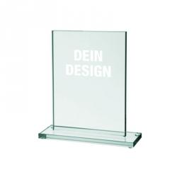 Glas-Pokal mittel mit Lasergravur - 12,5 x 17,5 cm
