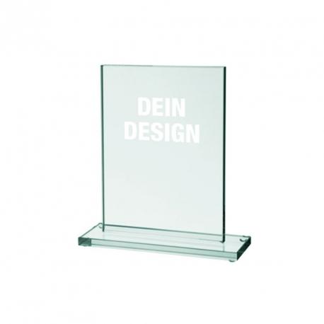 Glas-Pokal mit Lasergravur - 10,0 x 15,0 cm