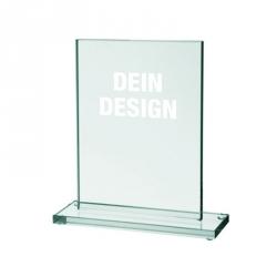 Glas-Pokal groß mit Lasergravur - 15 x 20 cm