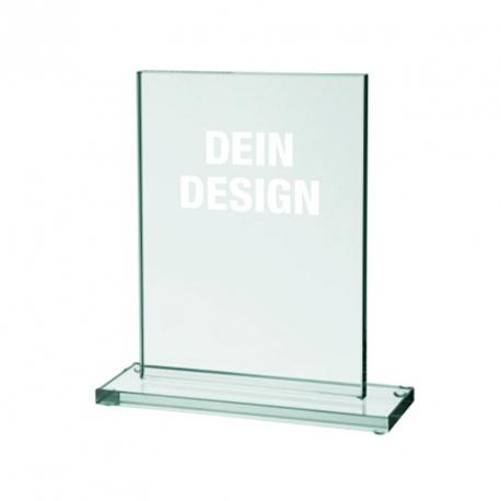 Glas-Pokal mittel mit Lasergravur - 15 x 20 cm