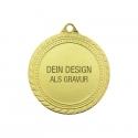 Medaille Sieger mit Gravur - Gold