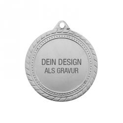Medaille Sieger mit Gravur - Silber