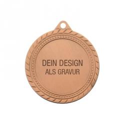 Medaille Sieger mit Gravur - Bronze