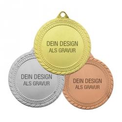 Medaille Sieger mit Gravur - 3-er Set