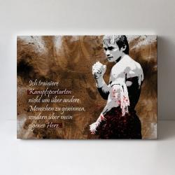 Leinwand - Ich trainiere Kampfsportarten