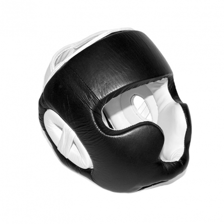 sparring-kopfschutz-unbedruckt-schwarz-weiss