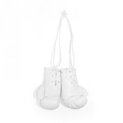 Mini Boxhandschuhe - unbedruckt - Weiß