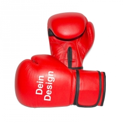 """Boxhandschuhe - individuell bedruckt - """"RED Burst"""""""