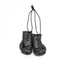 Mini Boxhandschuhe - individuell bedruckt - Schwarz