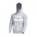Kapuzenpulli / Hoodie - individuell bedruckt - Grau