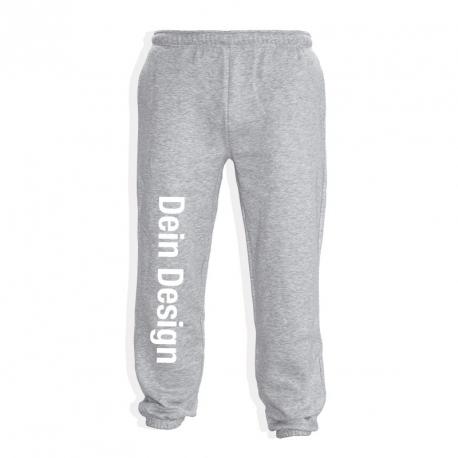 Jogginghose - individuell bedruckt - Grau